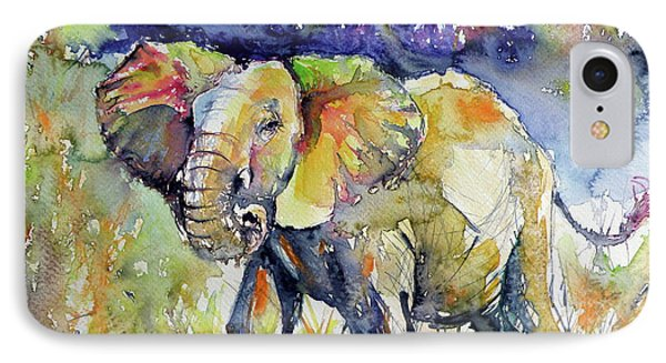 Elephant IPhone Case by Kovacs Anna Brigitta