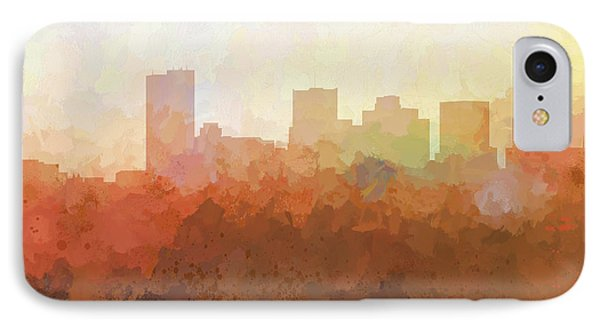 IPhone Case featuring the digital art Phoenix Arizona Skyline by Marlene Watson