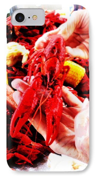 102715 Louisiana Lobster IPhone Case by Garland Oldham