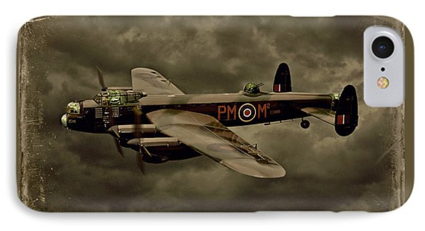IPhone Case featuring the photograph 103 Squadron Avro Lancaster by Steven Agius