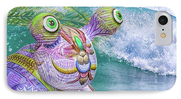 10859 Aliens In Paradise IPhone Case by Pamela Williams