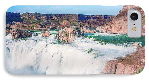 10917 Shoshone Falls IPhone Case by Pamela Williams