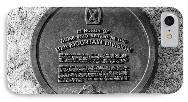 10th Mountain Division Phone Case by David Lee Thompson