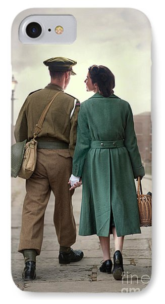 1940s Couple IPhone Case by Lee Avison