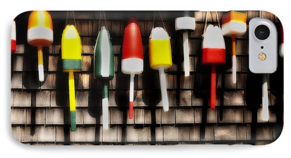 11 Buoys In A Row Phone Case by Thomas Schoeller