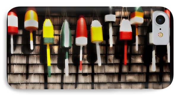 11 Buoys In A Row Phone Case by Expressive Landscapes Fine Art Photography by Thom