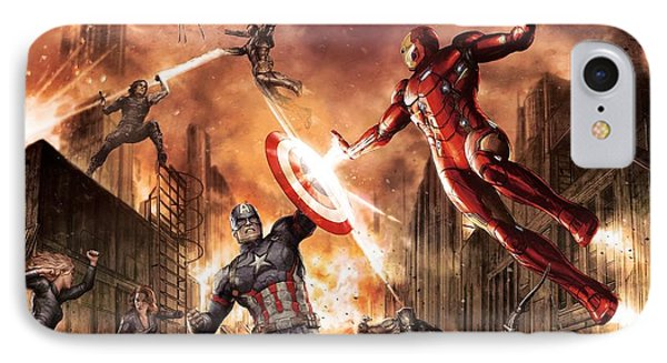 Ant iPhone 7 Case - Captain America Civil War 2016 by Fine Artist