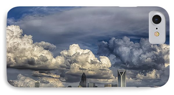 Charlotte North Carolina City Skyline IPhone Case by Alex Grichenko