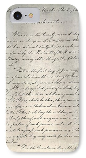 Emancipation Proclamation Phone Case by Granger