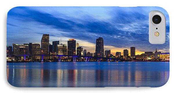 Miami Downtown Skyline IPhone Case by Raul Rodriguez