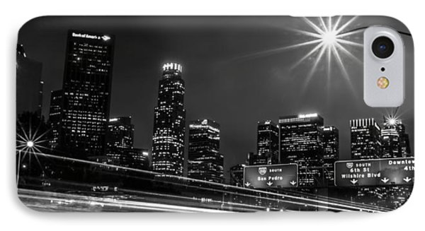 110 Freeway Los Angeles IPhone Case by April Reppucci