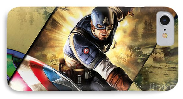 Captain America Collection IPhone Case by Marvin Blaine