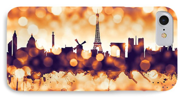Paris France Skyline IPhone Case by Michael Tompsett