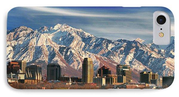 Salt Lake City Skyline IPhone Case