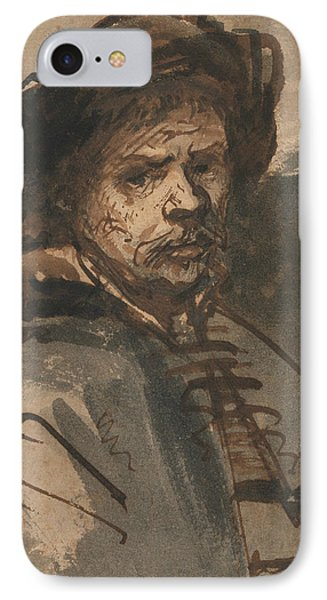 Self-portrait IPhone Case by Rembrandt