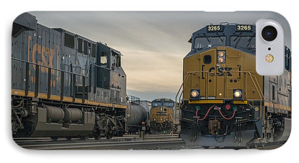 12.01.15 Howell Yard Evansville Indiana IPhone Case by Jim Pearson