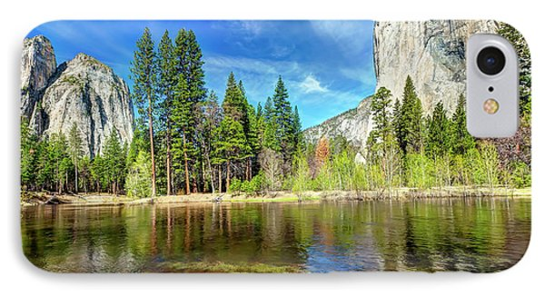 1202 El Capitan And Cathedral Rock IPhone Case by Steve Sturgill