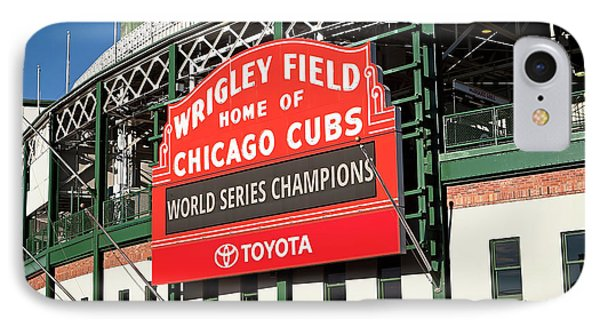 1280 Wrigley Field Sign IPhone Case by Steve Sturgill