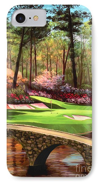 12th Hole At Augusta Ver IPhone Case by Tim Gilliland