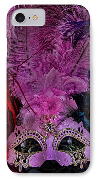 Venetian Carnaval Mask IPhone Case by David Smith