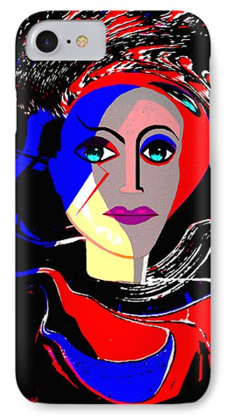 135 - Flashy Woman Poster 1 ...    IPhone Case