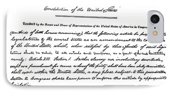 13th Amendment, 1865 IPhone Case by Granger