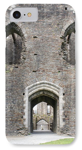 Caerphilly Castle IPhone Case by Carol Ailles