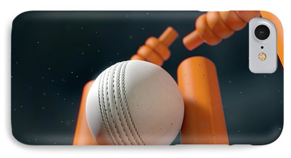 Cricket Ball Hitting Wickets IPhone 7 Case