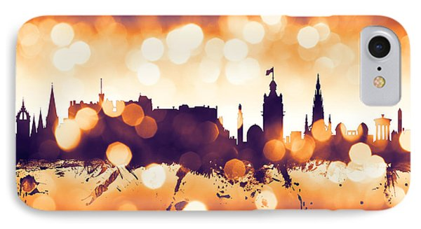 Edinburgh Scotland Skyline IPhone Case by Michael Tompsett