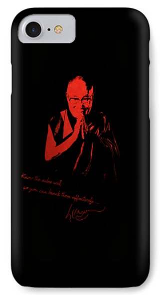 14th Dalai Lama Tenzin Gyatso - Know The Rules Well So You Can Break Them Effectively IPhone Case by Serge Averbukh