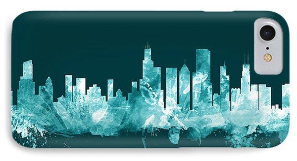 Chicago Illinois Skyline IPhone 7 Case by Michael Tompsett