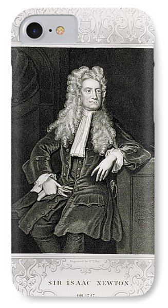 Isaac Newton, English Polymath Phone Case by Science Source