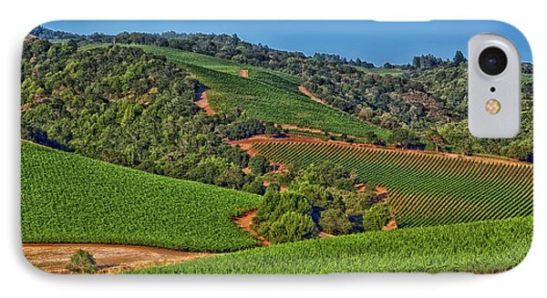 Napa Valley Vineyard IPhone Case by Mountain Dreams