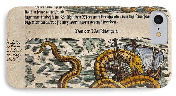 1558 Gessner Sea Serpent Devouring A Ship IPhone Case
