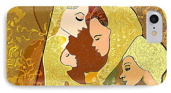 157 - Three Women And A Child IPhone Case