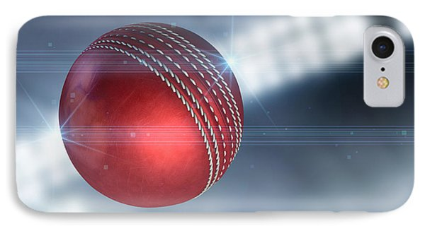 Cricket iPhone 7 Case - Ball Flying Through The Air by Allan Swart