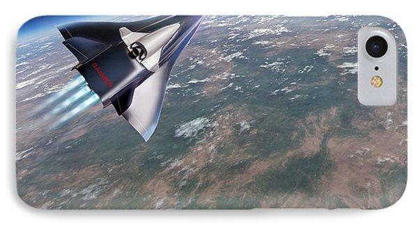 Saenger-horus Spaceplane, Artwork IPhone Case by Detlev van Ravenswaay