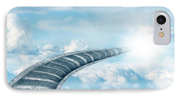 IPhone Case featuring the digital art Stairway To Heaven by Les Cunliffe