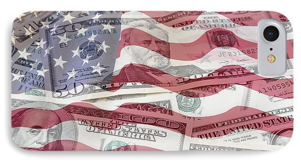 Usa Finance IPhone Case by Les Cunliffe