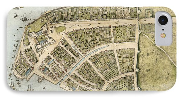 1660 New Amsterdam Map IPhone Case
