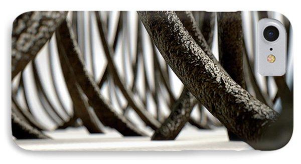 Microscopic Hair Fibers IPhone Case by Allan Swart