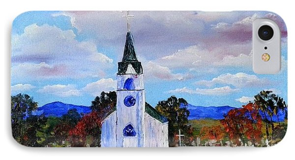 #17 St. Johns Historic Church On Hwy 69 IPhone Case