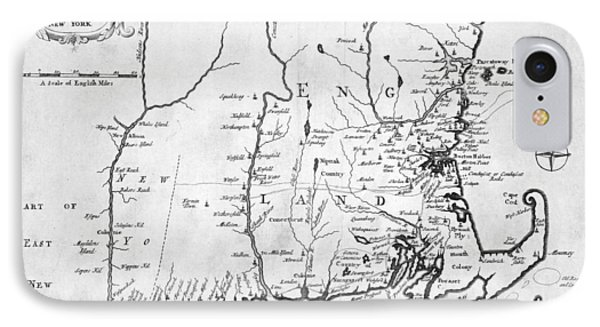 1702 Map Of New England And New York IPhone Case