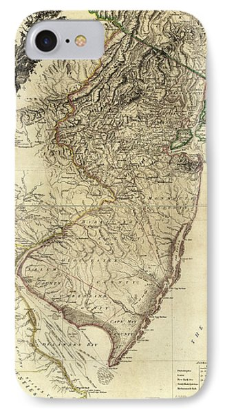 1778 Nj Map IPhone Case by Mark Miller