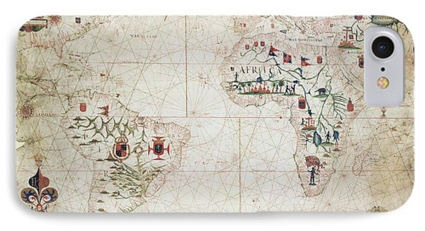 17th Century Nautical Map Of The Atlantic Phone Case by Library Of Congress