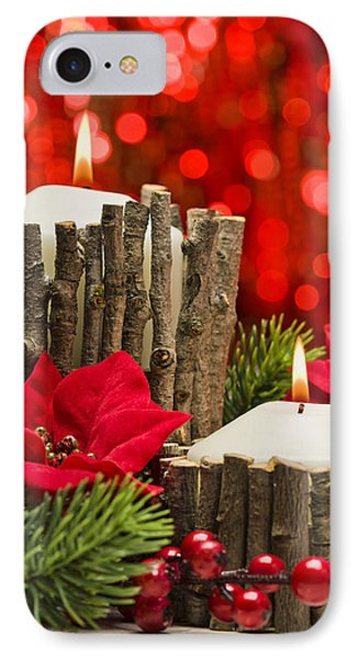 IPhone Case featuring the photograph Autumn Candles by Ulrich Schade