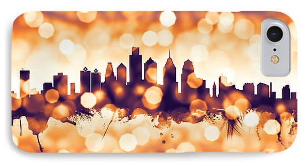 Philadelphia Pennsylvania Skyline IPhone 7 Case by Michael Tompsett