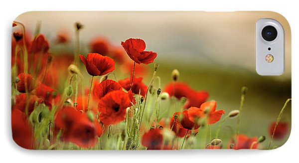 Summer Poppy Meadow IPhone Case