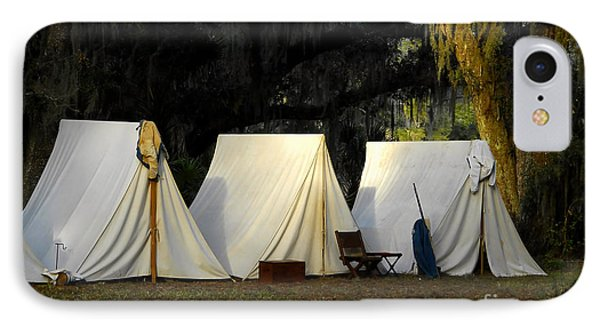 1800s Army Tents Phone Case by David Lee Thompson