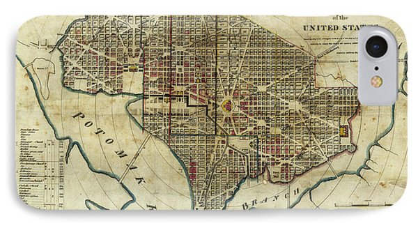 1822 Map Of Washington Dc IPhone Case